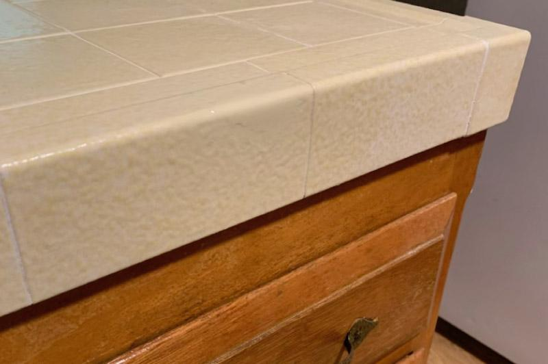 Chipped Tile After repairs - Bathtub Refinishers in Chico, CA
