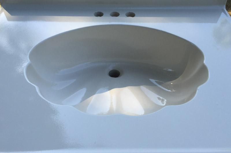 After   Old Sink   Chips Repaired Staining Removed   Bathtub Refinishers    Chico, CA